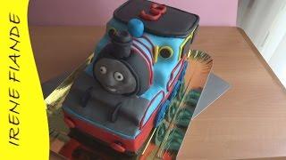 Детский торт Паровозик Том с мастикой (Irene Fiande)