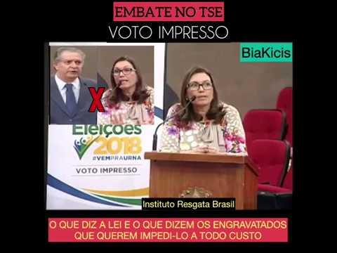 Confronto entre argumentos pró e contra o voto impresso no TSE Bia Kicis x Fernando Neves do Insti