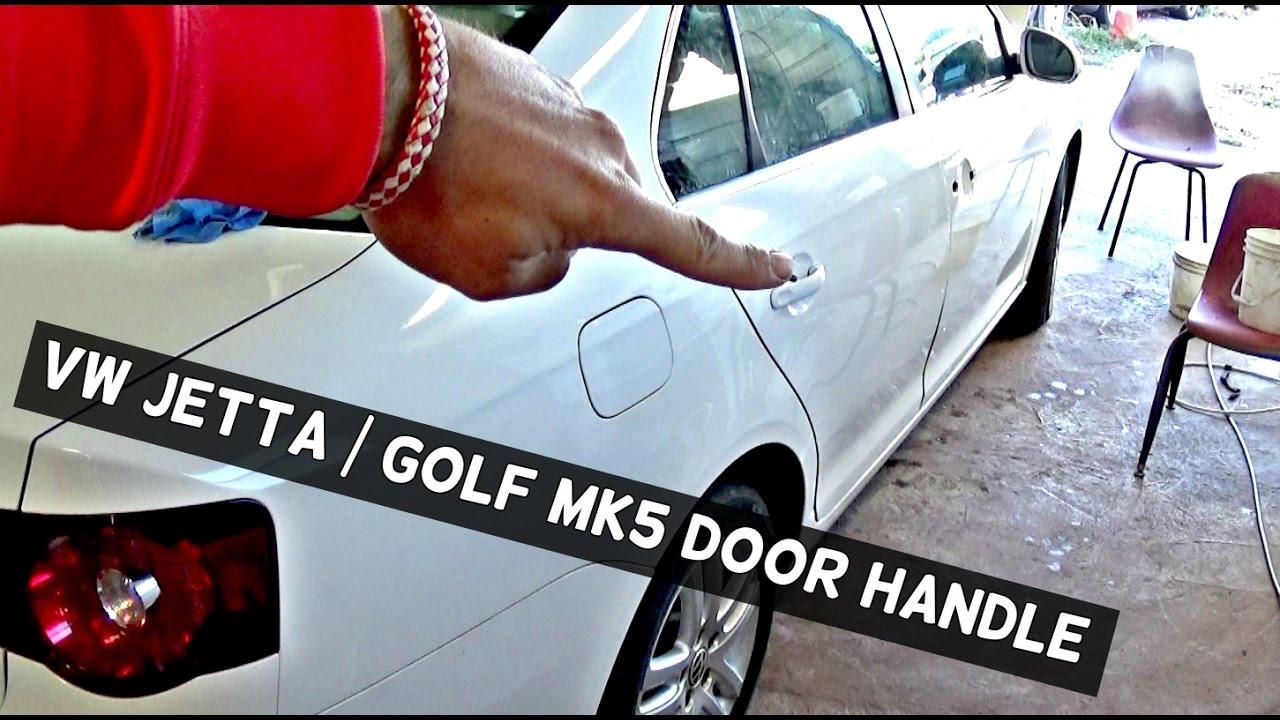 HOW TO REMOVE REAR DOOR HANDLE ON VW JETTA GOLF MK5 - YouTube