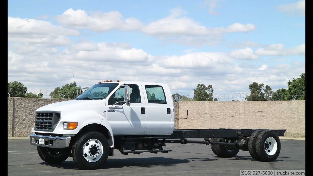 ford  xlt crew cab chassis youtube