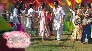 Saath Nibhana Saathiya   21st March 2016   HOLI Celebration  Ahem & Gopi Dance With Family