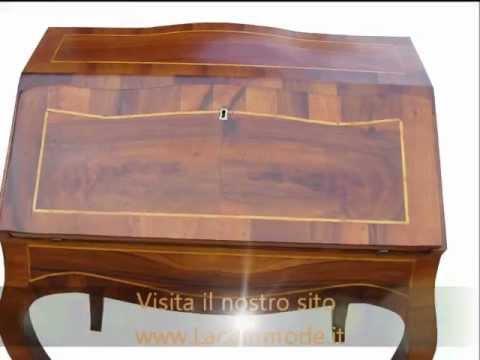 Mobili d 39 arte classici ribaltina lastronata a mano in stile vecchia cerea 700 veneto youtube - Mobili in stile cerea ...
