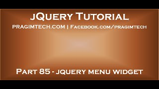 jQuery menu widget