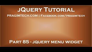 jQuery menu widget