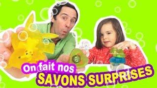 TUTO DIY - COMMENT FAIRE les SAVONS SURPRISES maison ? - Shopkins - Furby - Pokemon -Peppa Pig😀