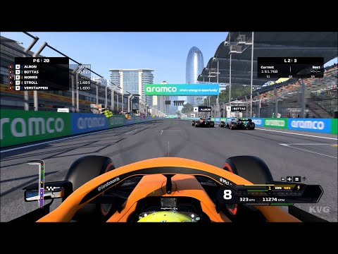 F1 2020 - Baku City Circuit - Baku (Azerbaijan Grand Prix) - Gameplay (PC HD) [1080p60FPS]