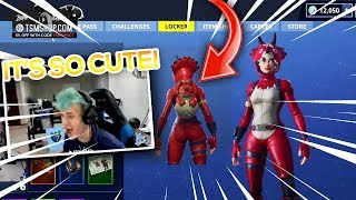 Ninja REACTS To *NEW* Baby Dinosaur & Triceratops Skin! (Fortnite Highlights and Moments)
