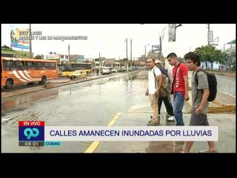 Fuerte lluvia inundó diferentes distritos de Lima