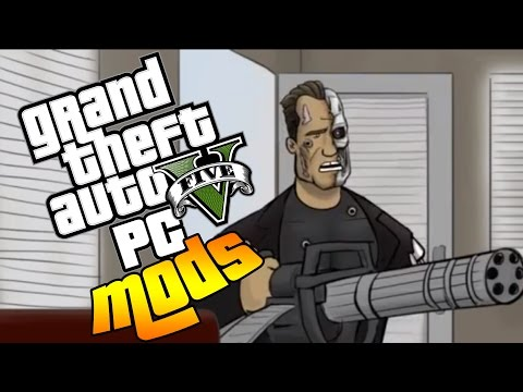 Gta 5 PC MODS - Terminator Mod, Red House Missions, New Jobs, General Chaos LIVESTREAM