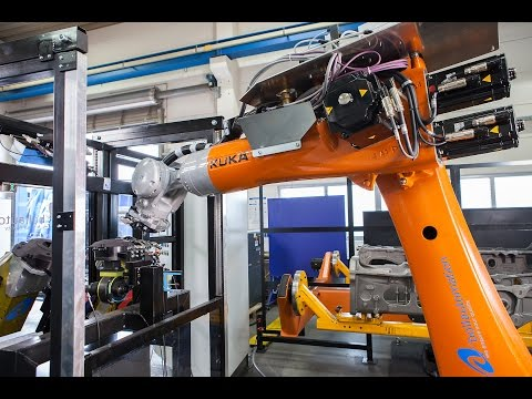 Deburring of castings with KUKA KR QUANTEC Foundry and Boll Automation