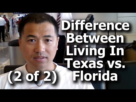 (2 of 2) What Is The Difference Between Living In Texas vs. Florida? - By Tai Zen