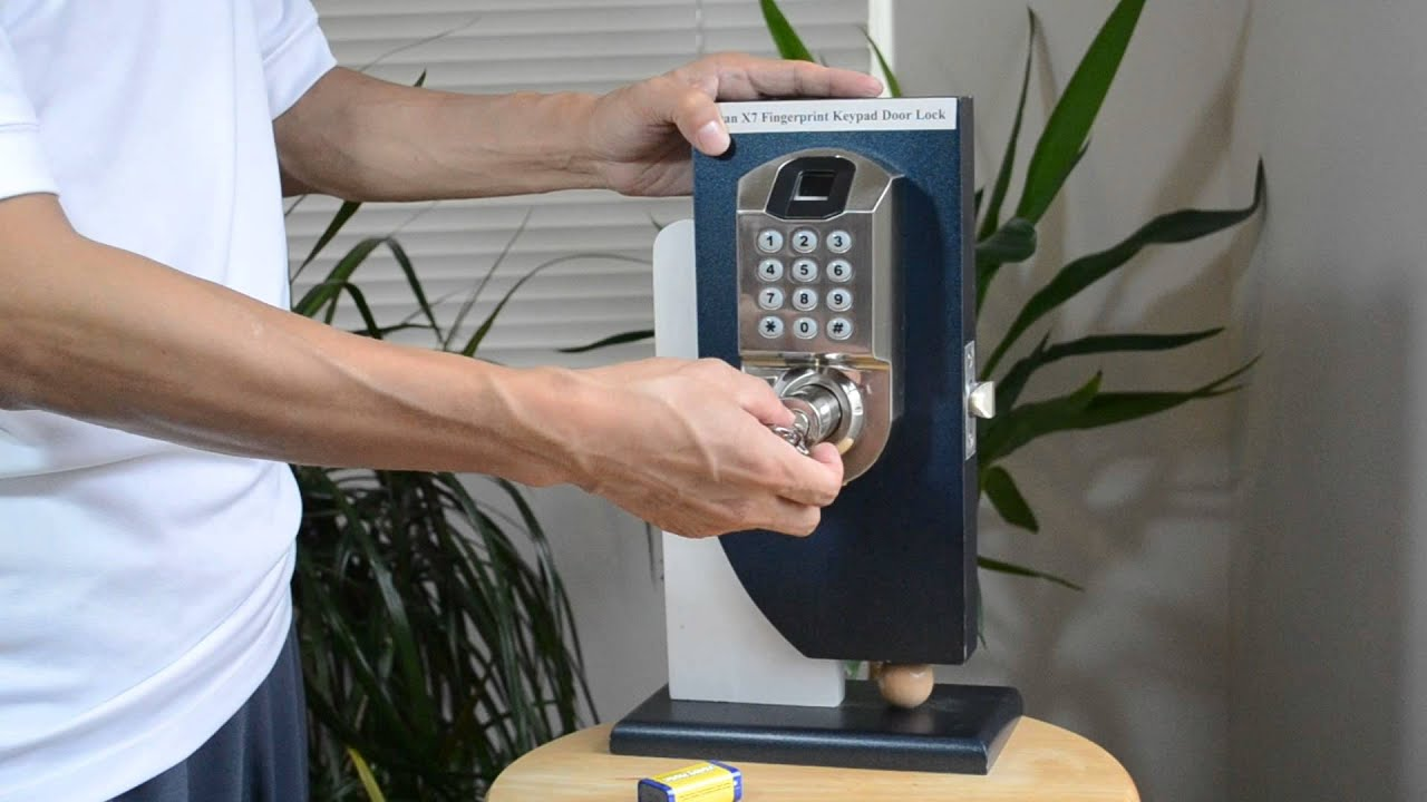 & Biometric Fingerprint Keypad Door Lock Scyan X7 - YouTube