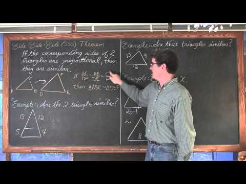 Proving Triangles are Similar AA SAS SSS