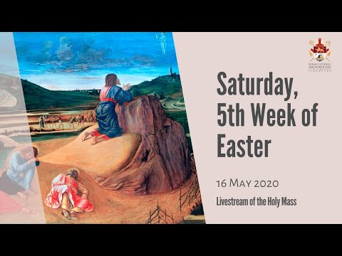 Catholic Weekday Mass Today Online - Saturday, 5th Week of Easter 2020