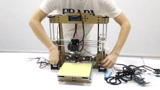 3d printer instruction the newest anet a8 3d printer assembly video 2