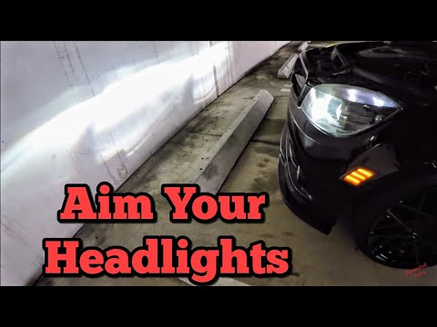 How to Align/ Aim Your Mercedes Benz Headlights