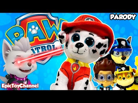 PAW PATROL Nickelodeon Mission Paw Sweetie the Robber Turns Pups Into Giant Paw Patrol Beanie Boos