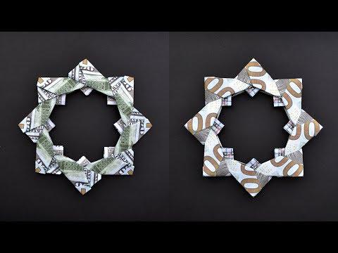 Money WREATH Origami | Dollar Home Decor | Tutorial DIY