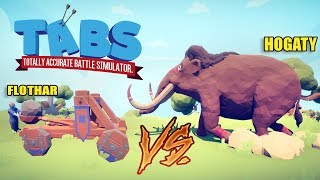 TABS MULTIPLAYER - HOGATY VS FLOTHAR! - TOTALLY ACCURATE BATTLE SIMULATOR