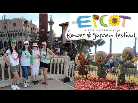ATE TOO MUCH AT EPCOT! Flower & Garden With Friends! Spring WDW 2019 Trip, Day 5