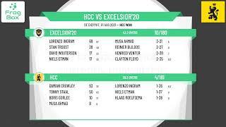 🔴LIVE: HCC vs Excelsior'20   DateKNCB Topklasse Round 16   Royal Dutch Cricket   01-08-2021