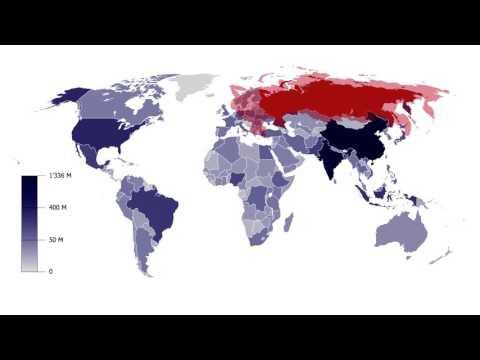 Население стран мира - инфографика