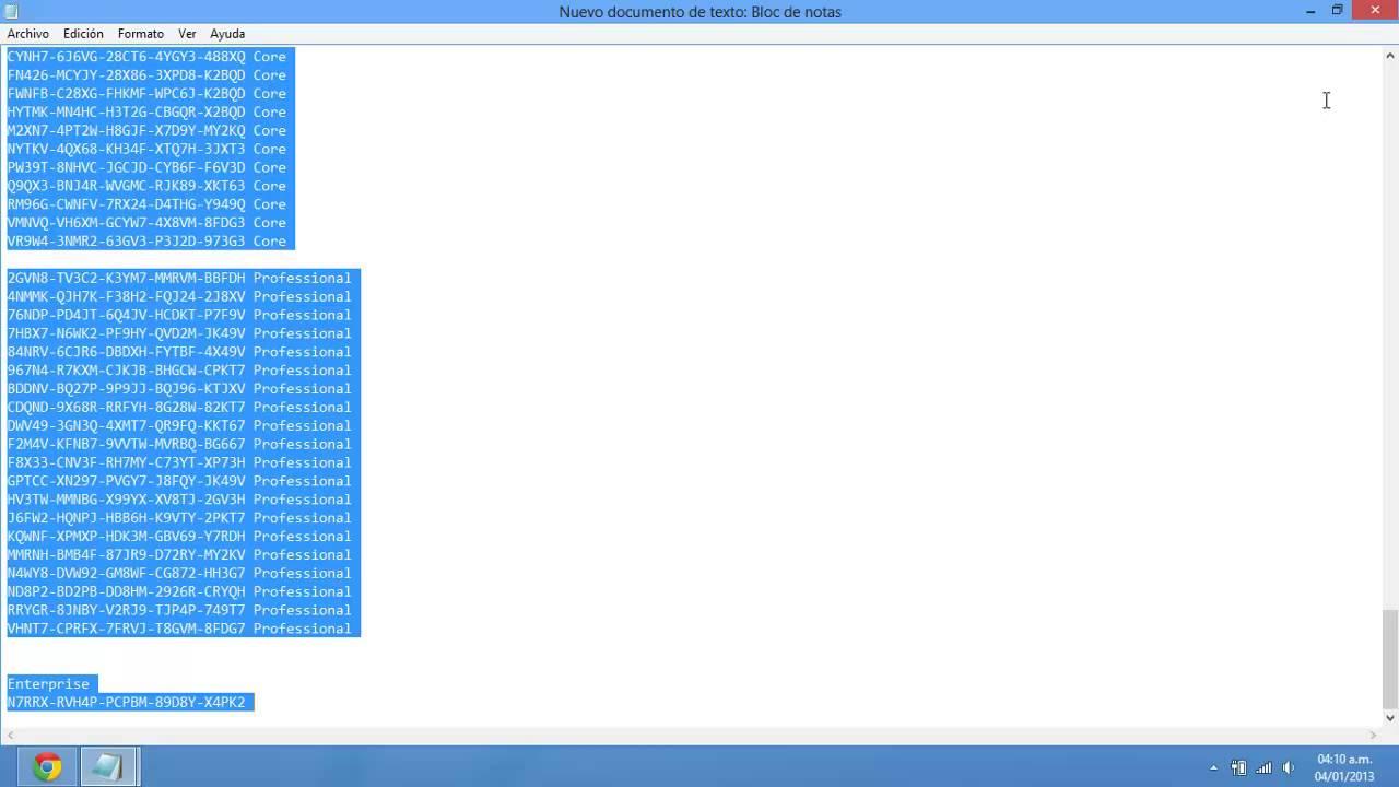 clave windows 8.1 64 bits