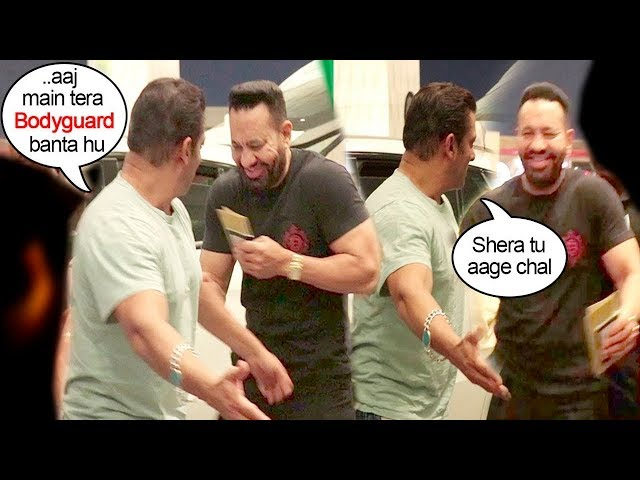 Salman Khan TAKES A DIG AT Of His Bodyguard Shera In Public