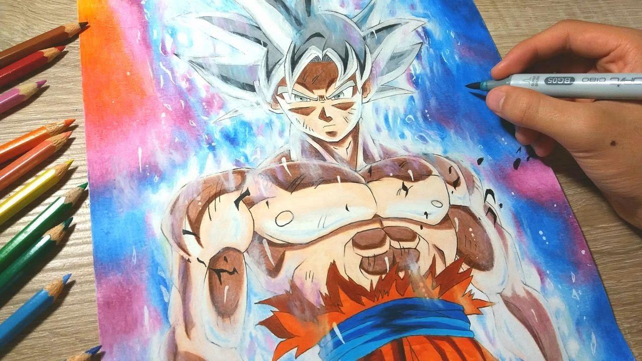 Drawing goku mastered ultra instinct migatte no gokui youtube - Goku ultra instinct sketch ...