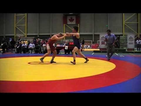 2014 Junior Greco-Roman National Championships: 96 kg Ronald Bingham vs. Angus Cowell