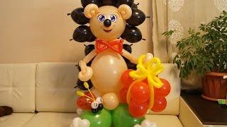 как сделать из шаров ежика