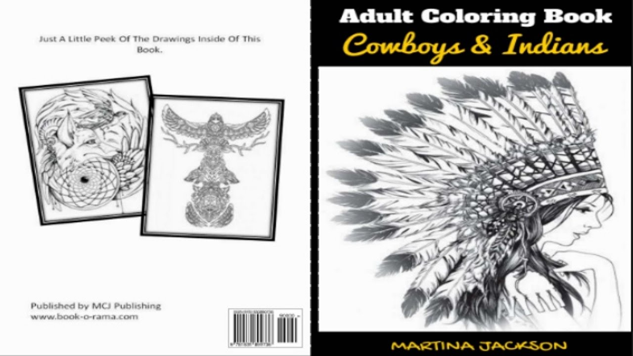 createspace publishing adult coloring book cowboys indians a look inside - How To Publish A Coloring Book