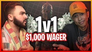 *CRAZY* 1v1 $1000 WAGER vs LosPollosTV! BIGGEST FORTNITE WAGER EVER! Fortnite Battle Royale