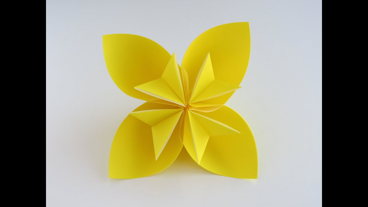 easy origami kusudama flower youtube