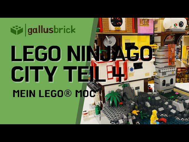 LEGO Ninjago City MOC | Modular Teil 4 Deutsch | Einkaufsladen, Loft, Krankenhaus und Garage
