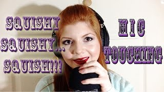 ASMR Microphone Squishy!!! Brushing/Touching Mic, MOUTH SOUNDS, Graceful Hands, Soft Whispers ☺️