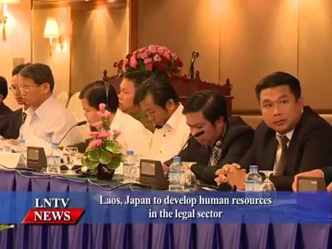 Lao NEWS On LNTV: Laos, Japan to develop human resources in the legal sector.26/10/2015