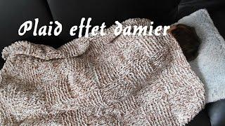 tricoter un plaid façon damier