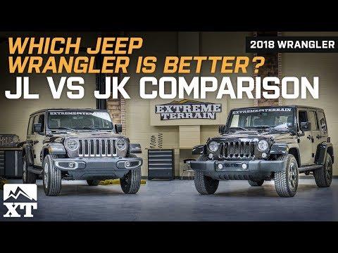 2018 Jeep Wrangler JL vs Jeep Wrangler JK  - Official Comparison & Review