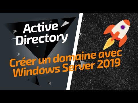 Créer un domaine Active Directory sous Windows Server 2019