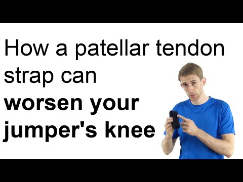 How a patellar tendon strap can worsen your jumper