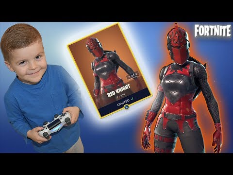 *5 YEAR OLD KID* Spending 2000 V-Bucks 'RED KNIGHT' Fortnite Outfit (& EPIC Black Knight Gameplay)