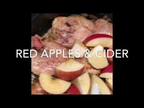 Chicken, cider & apple