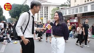 Phỏng vấn troll girl xinh trên phố