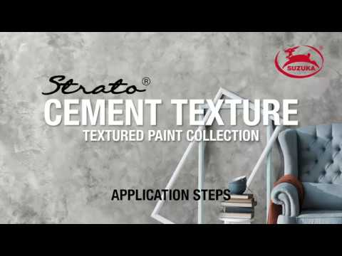 SUZUKA'S STRATO®: Cement Texture Paint/#SCT Application Steps
