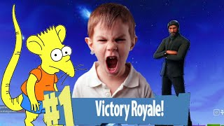 The Best Reactions of Kids Rat Getting Your First Victory/ Fortnite Funny Moments