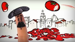 La tomatina de Buñol, fiestas de España. Aprender español