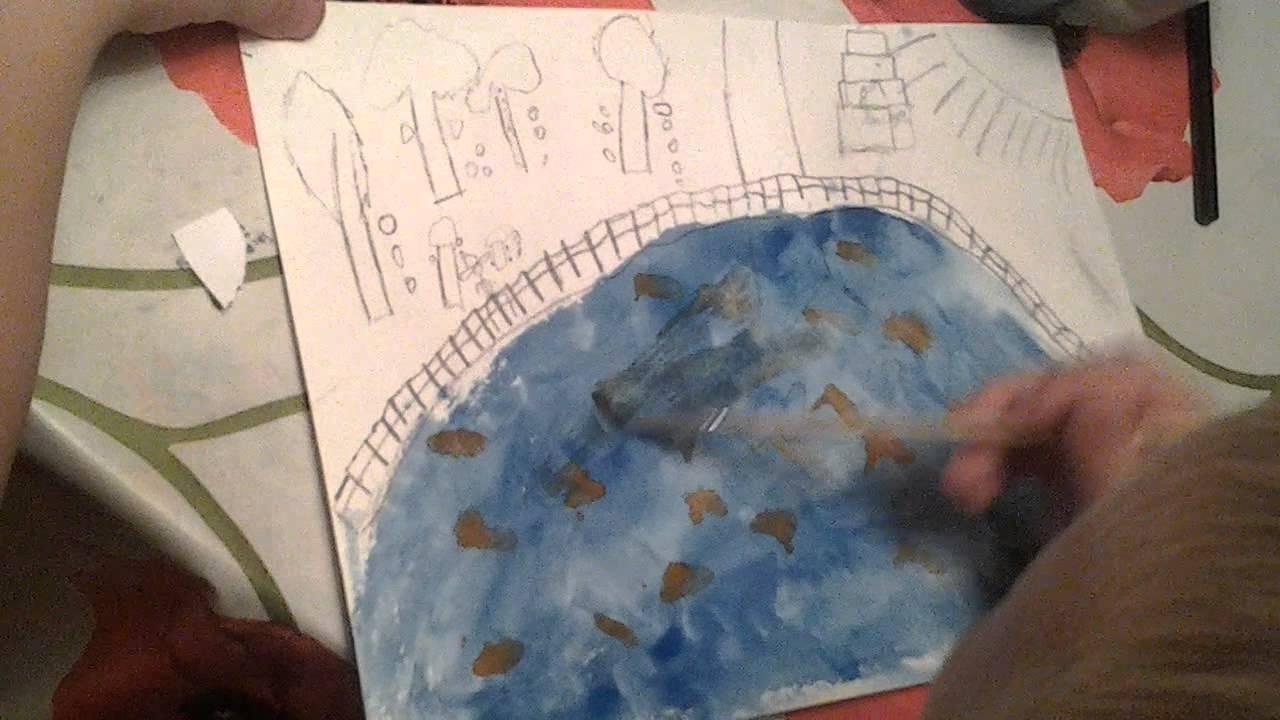 Картинки про золотую осень рисуют дети