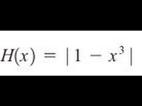 Express the function in the form f of g for abs(1-x^3) - YouTube