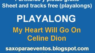 My Heart Will Go On by Celine Dion Playalong and music score free